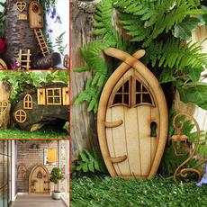 Funny, Door, gnome, Wooden