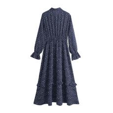 ruffle, womenvintagedres, Long Sleeve, Dress