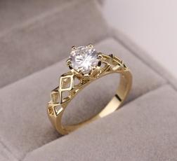goldplated, DIAMOND, wedding ring, gold