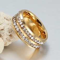 Couple Rings, Steel, Fashion Accessory, 18k gold