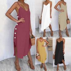 Summer, Fashion, Irregular, Dress