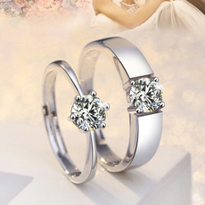 Couple Rings, platinum, DIAMOND, lover gifts