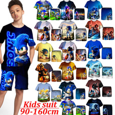 sonic, Shorts, kids clothes, Funny
