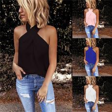 Summer, Vest, Fashion, Halter
