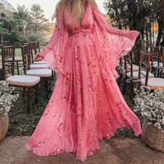 Long Sleeve, Dress, Sexy Dress, Floral dress