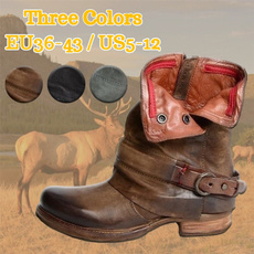 ankle boots, shortleatherboot, short boots, Leather Boots
