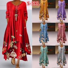 Summer, dressesforwomen, Floral, print dress