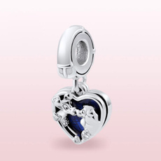 Sterling, Heart, charms for pandora bracelets, Jewelry