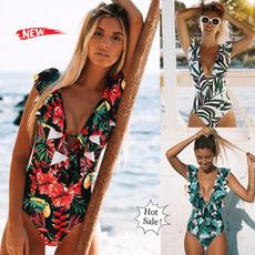 Fashion, ruffle, bikini set, sexy swimsuit