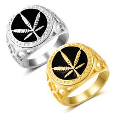 men_rings, Fashion, leaf, Jewelry