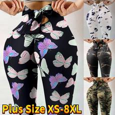 Camouflage Leggings, bowknot, Leggings, Plus Size