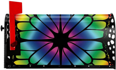 butterfly, rainbow, Decor, mailboxescover