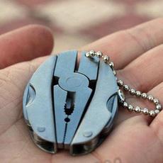Steel, Mini, Outdoor, Key Chain