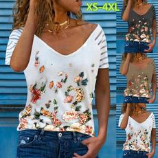 blouse, Vintage, Plus Size, floral shirt
