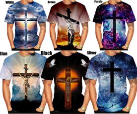 Summer, shortsleevestshirt, 3dmentshirt, Sleeve