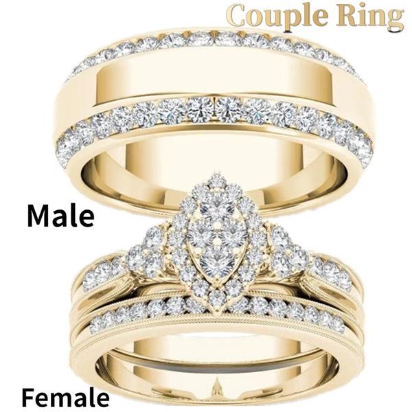 Couple Rings, Fashion, Princess, wedding ring