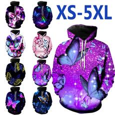 butterfly, 3D hoodies, fashion women, Fashion