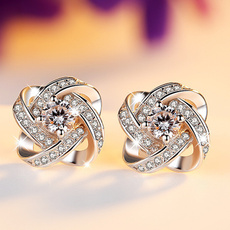 Sterling, crossearring, Fashion, 925 sterling silver