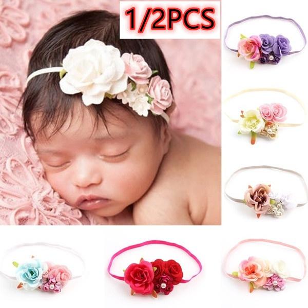 hair, Infant, babyheadband, Floral