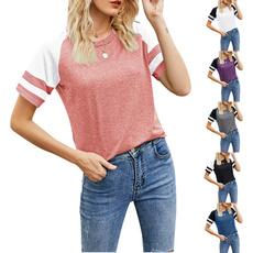 Summer, stitchingtshirt, stripestshirt, Necks