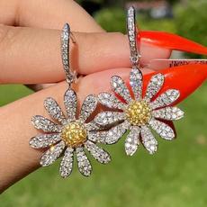 Sterling, Fashion, Sapphire, Stud Earring