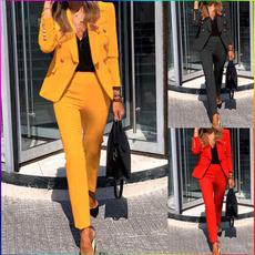 longsleevesmallsuit, Blazer, Office, pants