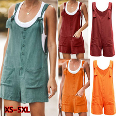 Summer, Plus Size, Loose, Overalls