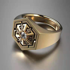 czring, Star, wedding ring, gold