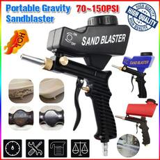 householdequipment, pneumaticsandblastinggun, Aluminum, sandblastinggun