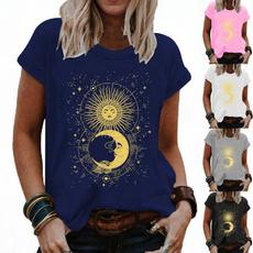 Summer, Womens Blouse, Graphic Shirt, short sleeves