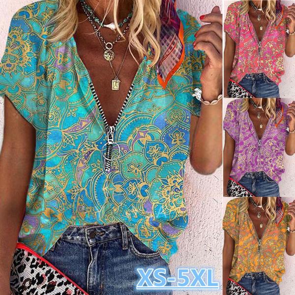 printedtop, Fashion, Summer, short sleeves