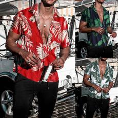 printedtop, Fashion, beachshirt, Hawaiian