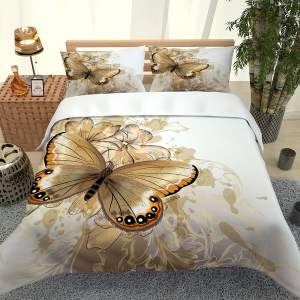 butterfly, King, Decor, bedset