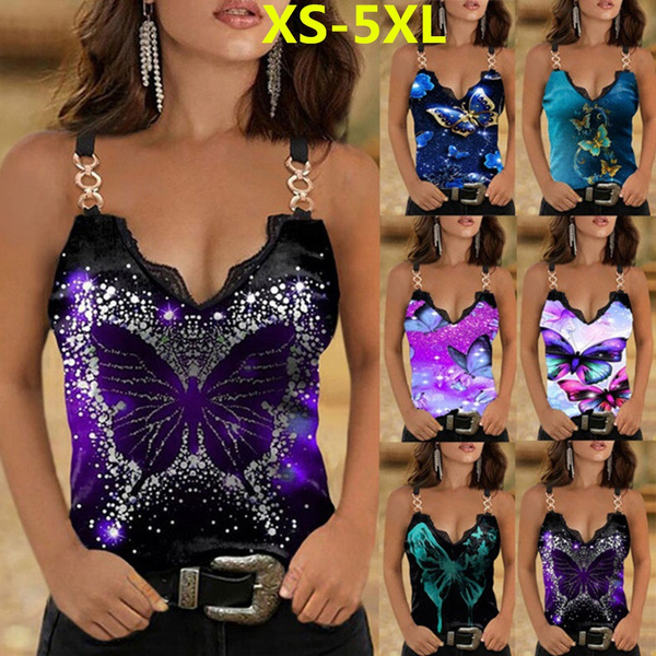 halter top, Summer, Plus Size, butterfly