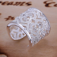 womenringssilver, Sterling, Engagement, Jewelry