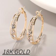 Sterling, silverweddingearring, DIAMOND, Jewelry