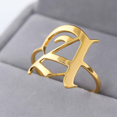 adjustablering, letterring, wedding ring, gold