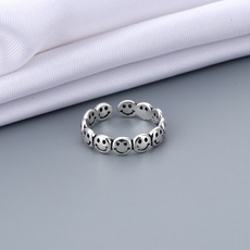 adjustablering, Fashion, Jewelry, Silver Ring