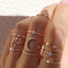 Heart, Fashion, Star, gold