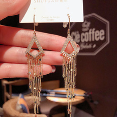 Sterling, Triangles, sterling silver, Earring
