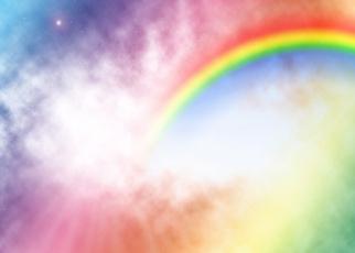 rainbow, photograph, Christmas, Shower
