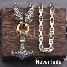 Head, Men, Chain, vikingnecklace