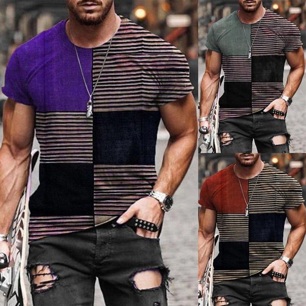 Shorts, easy, Sleeve, Stripes
