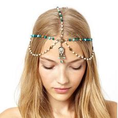 pearls, Tassels, headdress, retro
