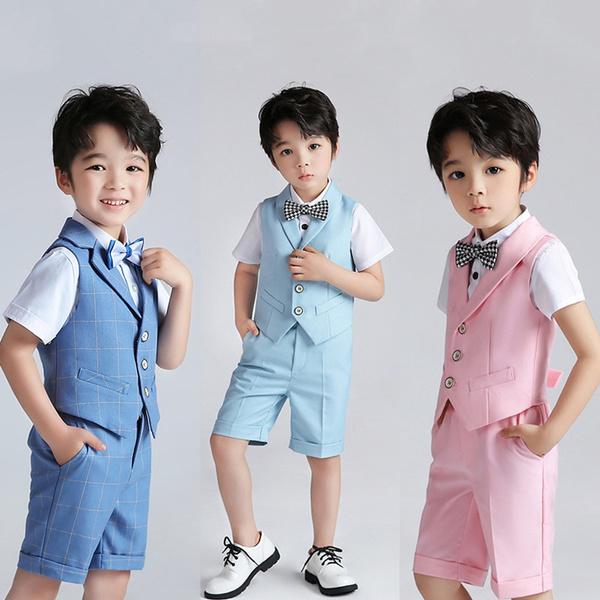 Boy, suitshort, Shorts, Waist Coat