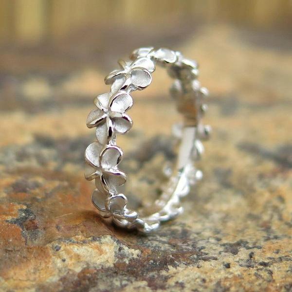 Beautiful Ring, Flowers, wedding ring, Silver Ring