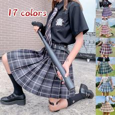Skirts, Summer, plaid, short dress