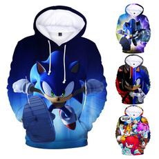 sonic, 3dcartoonhoodie, hooded, Winter