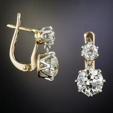 DIAMOND, gold, Yellow, Earring