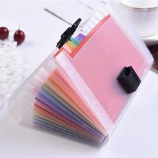 rainbow, studentsupplie, filebag, Plastic